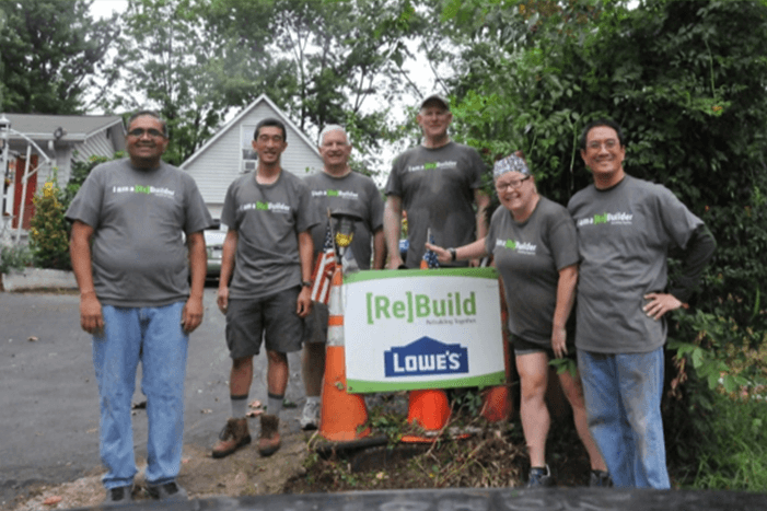 Each year on the last Saturday in April, Rebuilding Together Loudoun County works to help families in need by completing home repairs